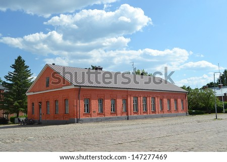 View of old building in Lappeenranta at summer, Finland
