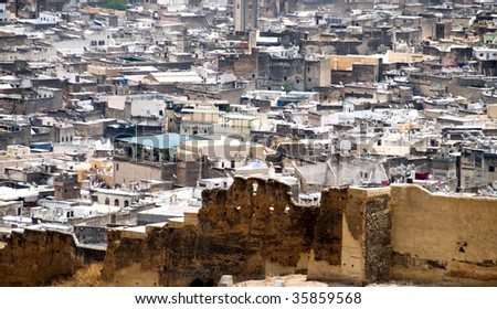 View of old Madina, Fes, Morocco