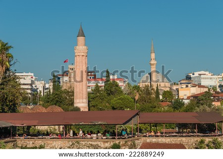 View of old town in Antalya, Turkey, 2014 - stock photo