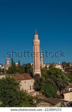 View of old town in Antalya, Turkey, 2014