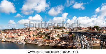 view of old town of Porto, Portugal