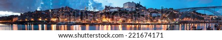 view of old town of Porto, Portugal - stock photo