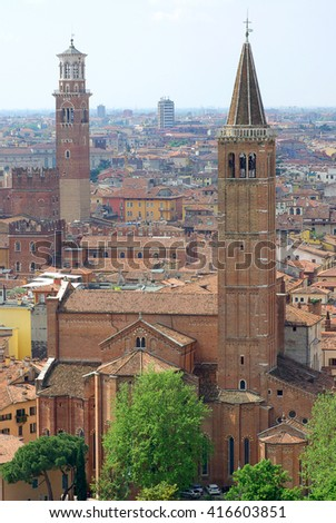 View of old Verona, Italy