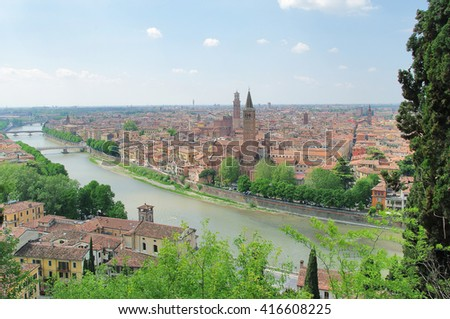 View of old Verona, Italy - stock photo