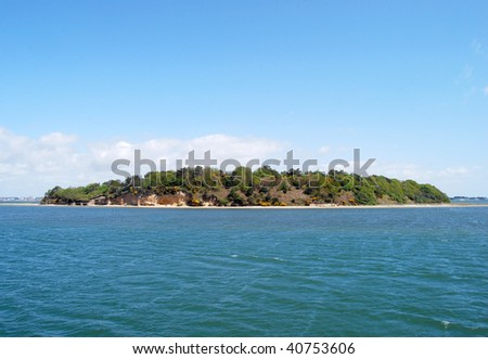 View of one of island in Poole harbor - stock photo
