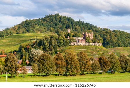 View of Ortenberg castle in The Black Forest. Germany, Baden-Wurttemberg - stock photo