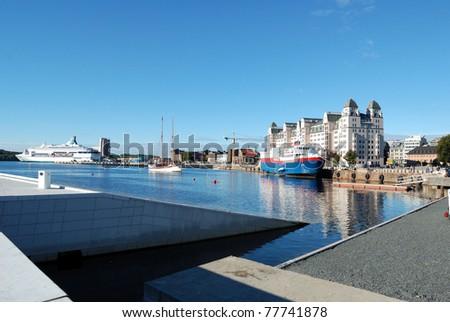 View of Oslo - stock photo