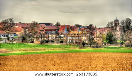 View of Osthoffen, a small town in Alsace - France - stock photo