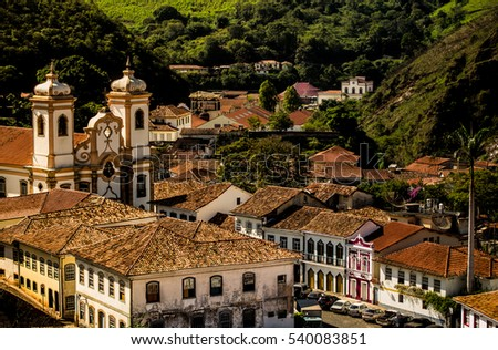 View of Ouro Preto, Brazil