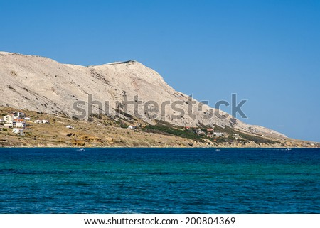 view of Pag in Croatia