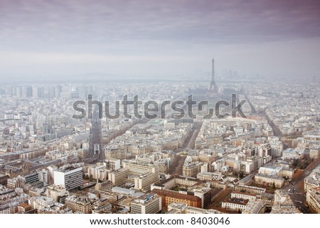 View of Paris - stock photo