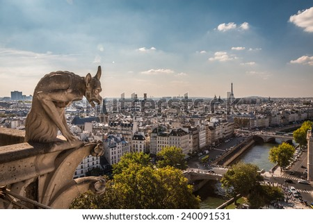 View of Paris France - stock photo
