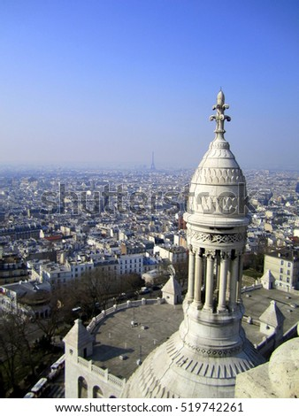 View of Paris from Sacre Coeur church