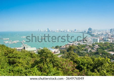 View of Pattaya, Thailand