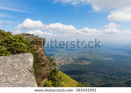 View of Phu Luang Wildlife Sanctuary  in Loei Province, Thailand