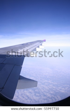 View of plane - stock photo