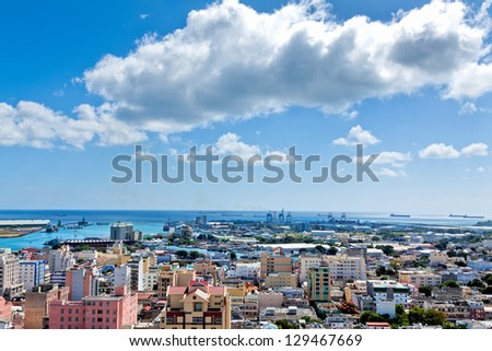 View of Port Louis, Mauritius, Africa