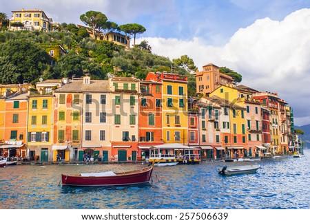 View of Portofino, Italy - stock photo