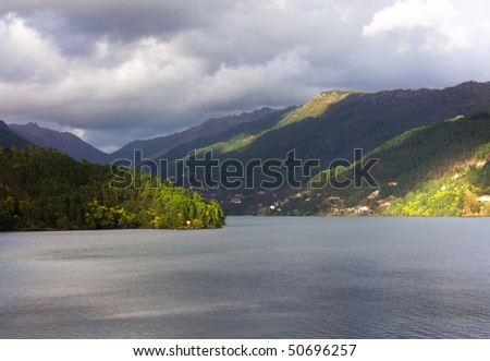 View of Portuguese National park of Geres, north of Portugal - stock photo