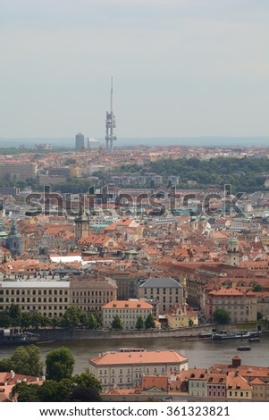 View of Prague cityscape