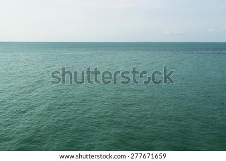 view of quiet sea water horizon. calmness concept background - stock photo