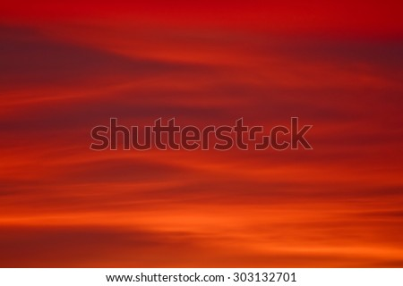 View of red sky can be used as abstract background - stock photo