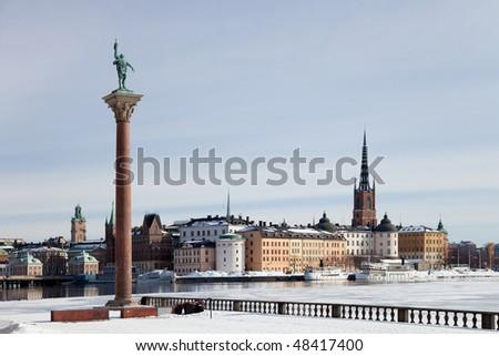 View of Riddarholmen - Knights island. Stockholm, Sweden. - stock photo