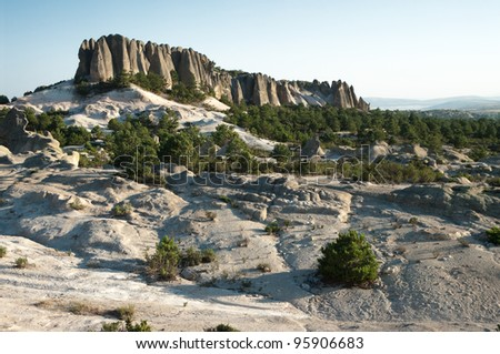 view of rock formation in Phrygian Valley, Turkey