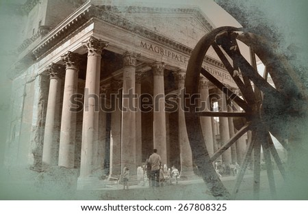 View of Rome - stock photo