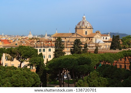 View of Rome from the Capitoline Hill