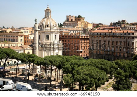 View of Rome Italy