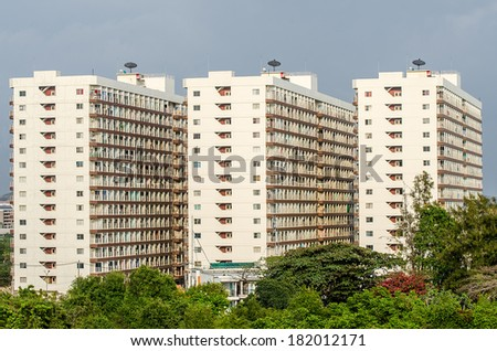 View of rooms in condominium - stock photo