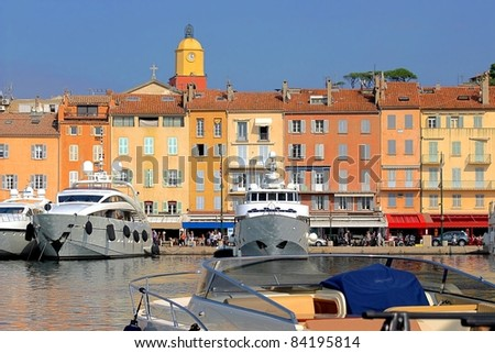 View of Saint-Tropez, south of France - stock photo