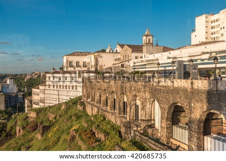 View of Salvador de Bahia Brazil - stock photo