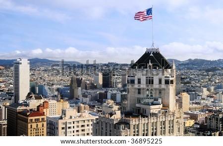 View of San Francisco - stock photo
