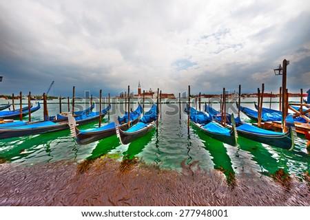 View of San Georgio Maggiore Island in Venice - stock photo