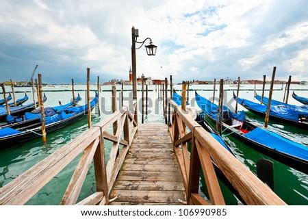 View of San Georgio Maggiore Island, Venice - stock photo