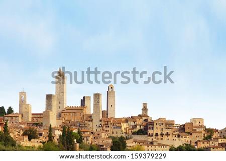 View of San Gimignano in Tuscany. Italy. - stock photo