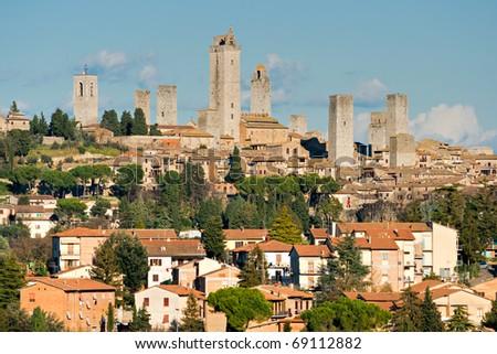 View of san gimignano, Siena, Tuscany, Italy. - stock photo