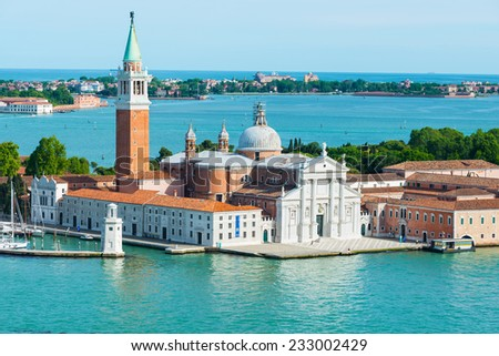View of San Giorgio island in Venice. Italy - stock photo