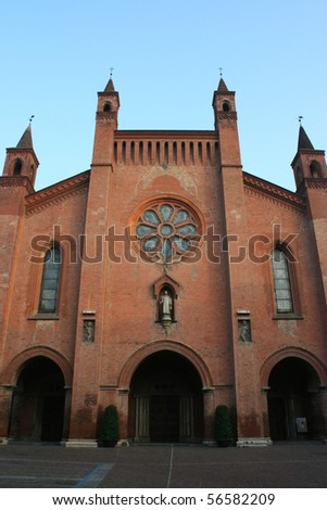 View Of San Lorenzo Cathedral (Alba , Piemonte Italy) - stock photo