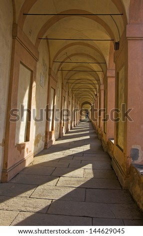 view of san luca - bologna, italy