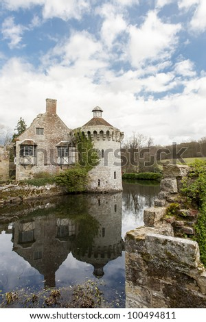 view of scotney castle in kent England