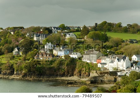 View of seaside houses at Killarney, Ireland - stock photo