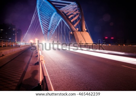 view of sidewalk on Tianjin Dagu bridge,china.