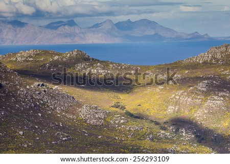 View of Silvermine Nature Reserve in Winter, Cape Town, South Africa - stock photo