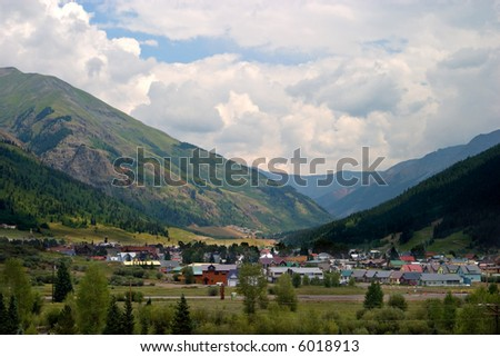 View of Silverton, Colorado from Highway 550.