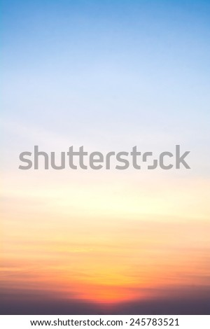 view of sky in the morning - stock photo