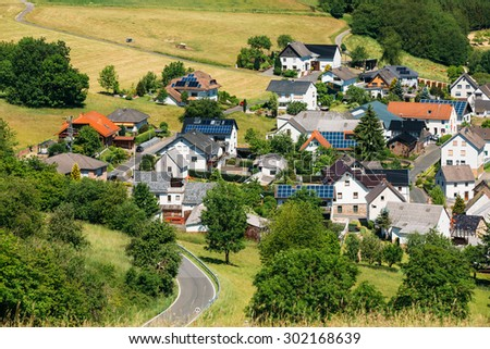 View Of Small Picturesque Village In Germany, Europe