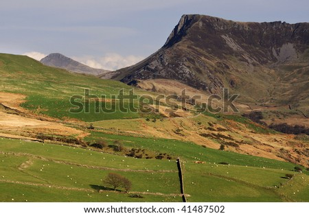 View of Snowdonia National Park - stock photo